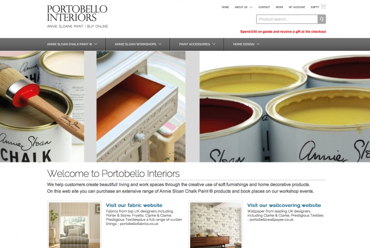 New online store for Portobello Interiors