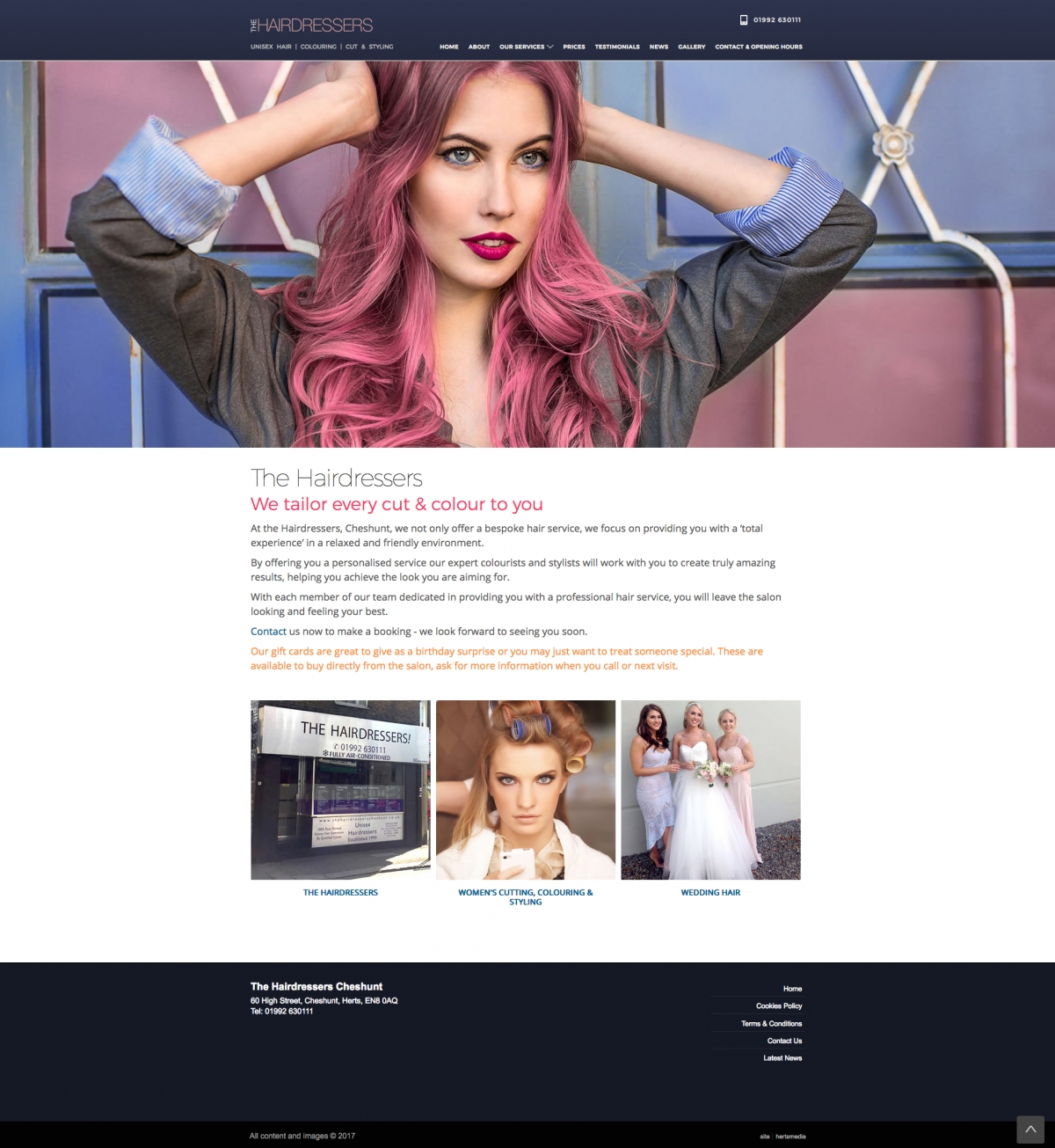 New website for The Hairdressers Cheshunt